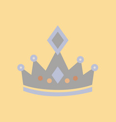 flat icon on stylish background crown royal vector image