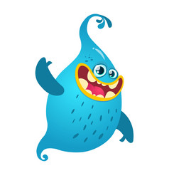 Funny cartoon ghost vector
