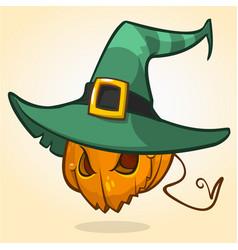 jack o lantern halloween pumpkin head vector image