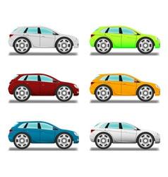 Crossover Cartoon car with big wheels vector image
