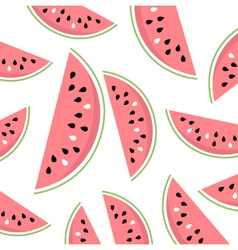 Watermelon slices summer background vector