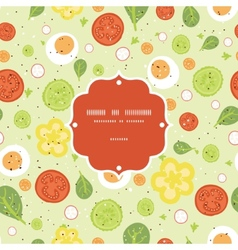 Fresh salad frame seamless pattern vector