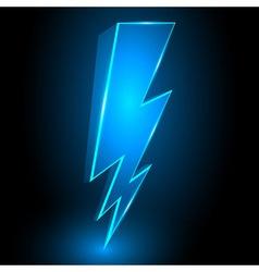 3d sparkling lightning bolt abstract background vector