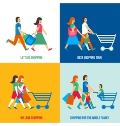 Shopping people design concept vector