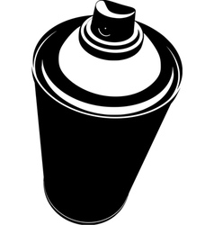 Graffiti spraycan in black over white vector