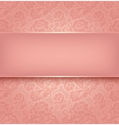 Floral lace background vector
