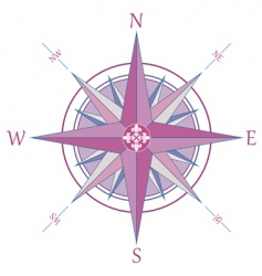 Compass with fleur-de-lis vector