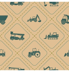 Seamless pattern construction machines vector image