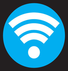 Wifi icon flat design vector