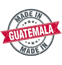 Made in guatemala red round vintage stamp vector