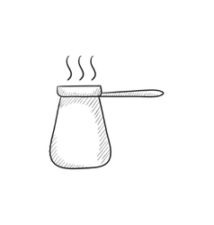 Coffee turk sketch icon vector image