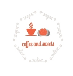 Coffee decorative icons set with drink and sweet vector