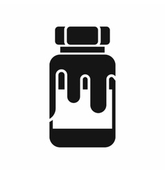 Plastic jar with gouache icon vector