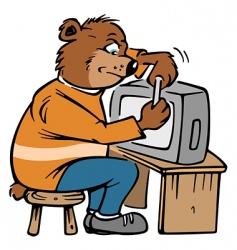 bear repair vector image vector image