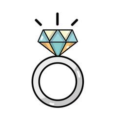 Beauty wedding ring with diamond design vector