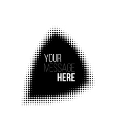 black and white halftone pattern backround vector image vector image