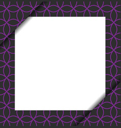 Blank paper on purple geometric pattern vector