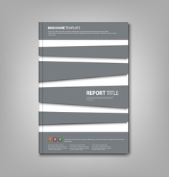 Brochures book or flyer with abstract gray stripes vector image