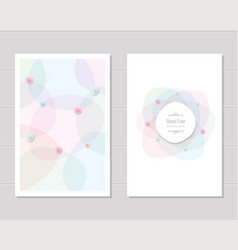Card templates wedding invitation brochure cover vector