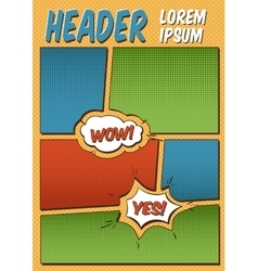 Comics Template vector image