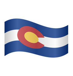 flag of colorado waving on white background vector image