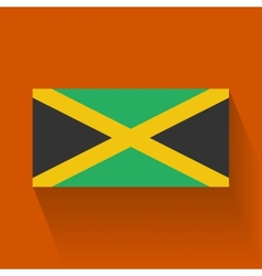 Flat flag of jamaica vector