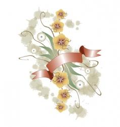 floral ornament grunge vector image
