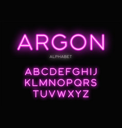 Glowing neon typeface design alphabet vector