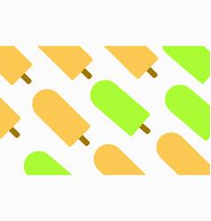 Icecream greentea and orange vector