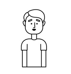Line handsome man with hairstyle design vector