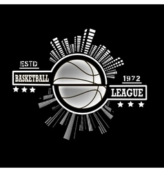 Logo basketball league vector image