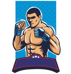 mma fighter vector image vector image