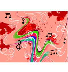 music grunge vector image vector image