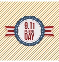 Patriot Day circle Emblem with Ribbon vector image vector image