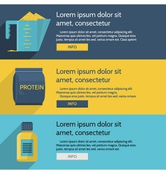 Protein supplements colored vector