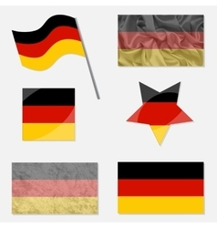 Set with Flags of Germany vector image