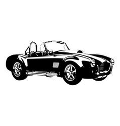 Silhouette classic sport car ac cobra roadster vector