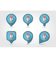 Turkey mapping pins icons vector