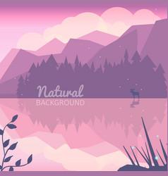Twilight northen background vector