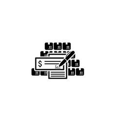Wholesale icon flat design vector