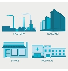 Stock city modern architecture vector