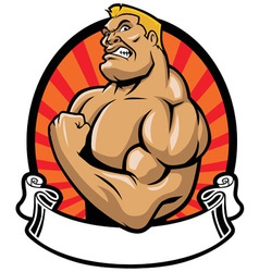 Muscle bodybuilder vector