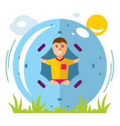zorbing concept flat style colorful vector image