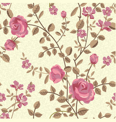 floral seamless pattern of blooming roses vector image