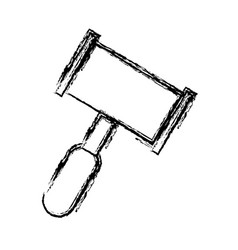 Hammer law icon vector