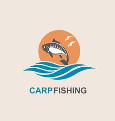 Carp fish icon vector