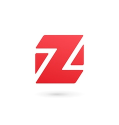 Letter z number 2 cube logo icon design template vector