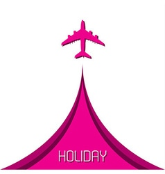 Simple holiday background with airplane vector