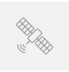 Satellite line icon vector