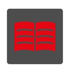 Open book rounded square button vector